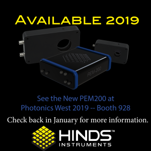 New PEM-200 Available in 2019! See the PEM-200 at Photonics West 2019 - Booth 928